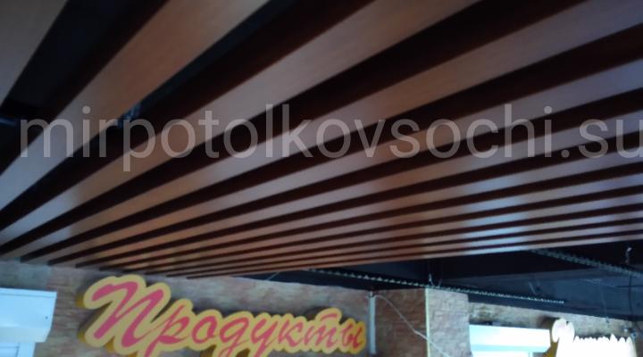 Реечный кубообразный потолок мультикуб